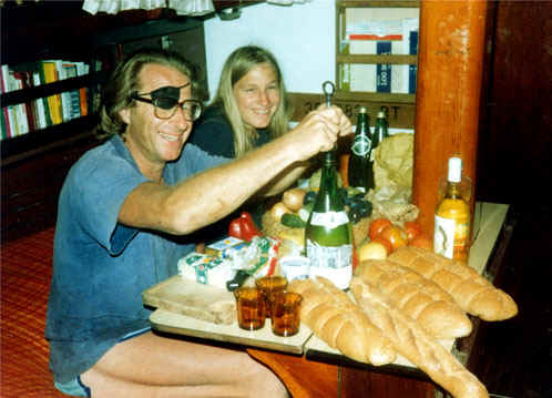 Lunch in the cabin. Corsica 1981